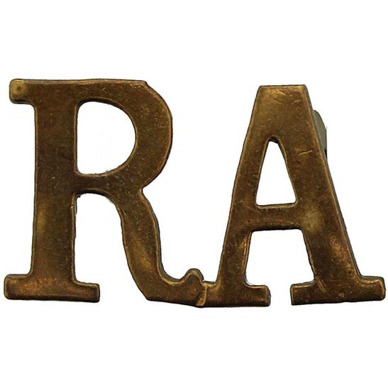 Royal Artillery WW1 Royal Artillery Regiment RA Shoulder Title