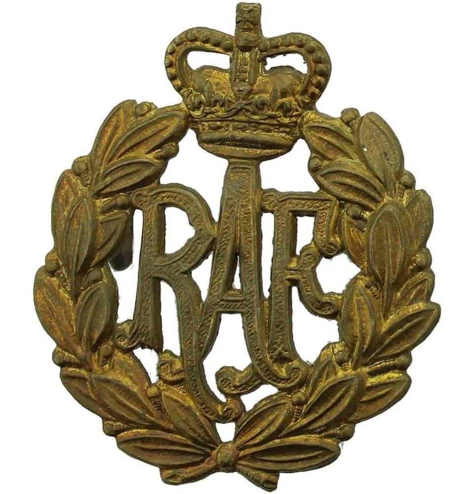 Details about ROYAL AIR FORCE BRASS CAP BADGE RAF BRASS METAL CAP BADGE