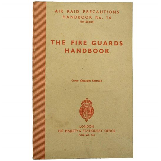 Air Raid Precautions ARP WW2 Air Raid Precautions ARP Fire Guards Handbook Booklet Document