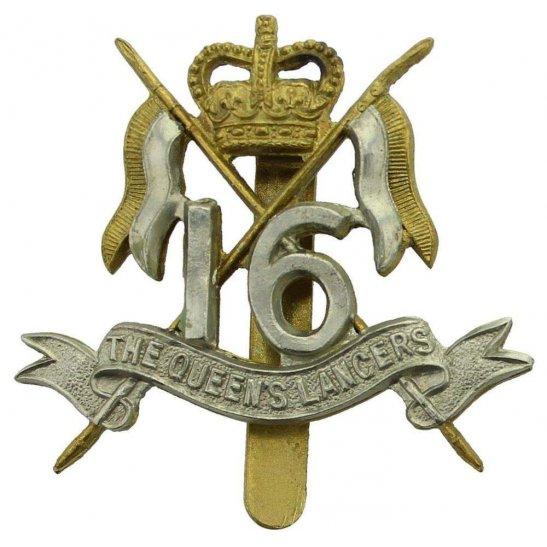 16th Lancers 16th (The Queens Lancers) Regiment Cap Badge MARPLES & BEASLEY - Queens Crown