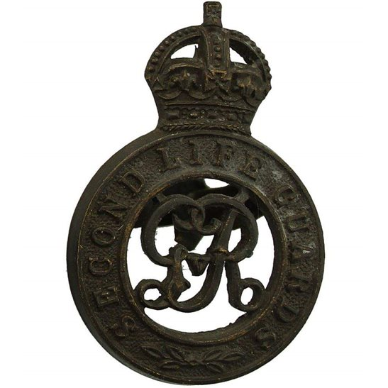 Life Guards WW1 The Second Life Guards Regiment (2nd) OFFICERS Bronze George V Cap Badge