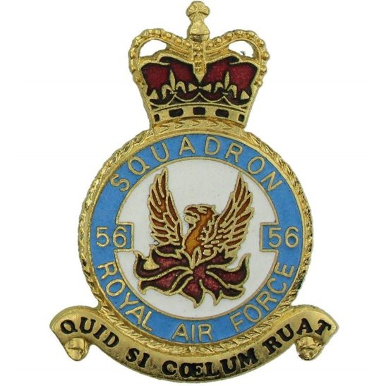 RAF Squadrons 56 Squadron Royal Air Force PLAQUE Badge RAF