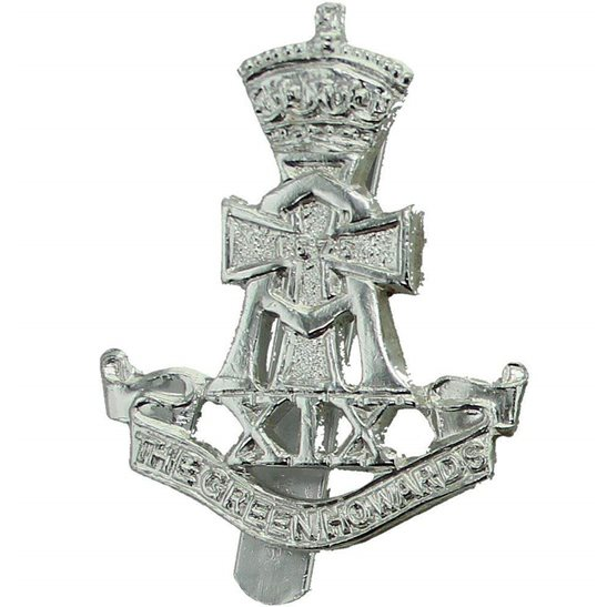 Yorkshire (Green Howards) Green Howards (Yorkshire) Regiment Staybrite Anodised Cap Badge - Staybright
