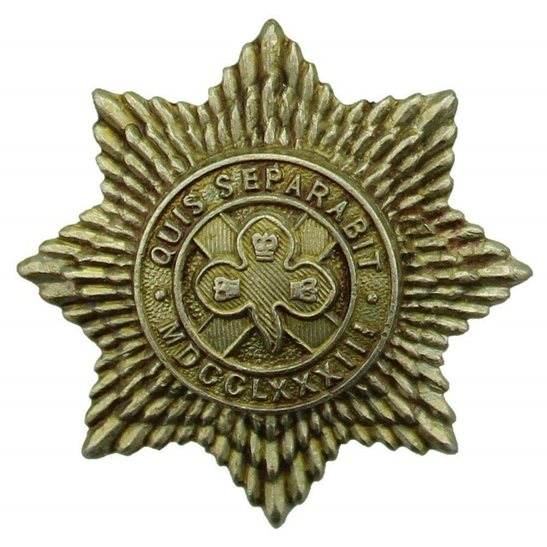 4th Royal Irish Dragoon Guards WW1 4th Royal Irish Dragoon Guards Regiment Collar Badge