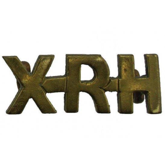10th Royal Hussars 10th Royal Hussars Regiment XRH Shoulder Title