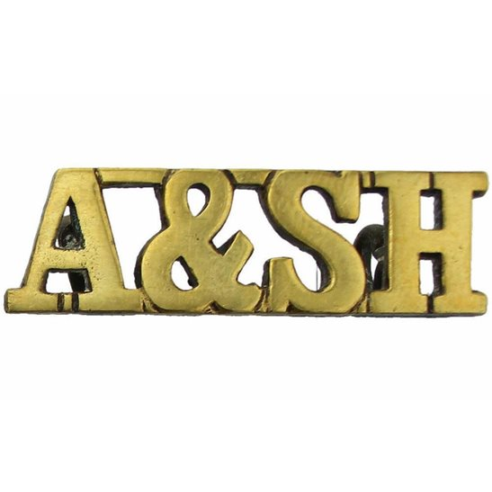Argyll and Sutherland Highlanders WW1 Argyll & Sutherland Highlanders Regiment Scottish Shoulder Title