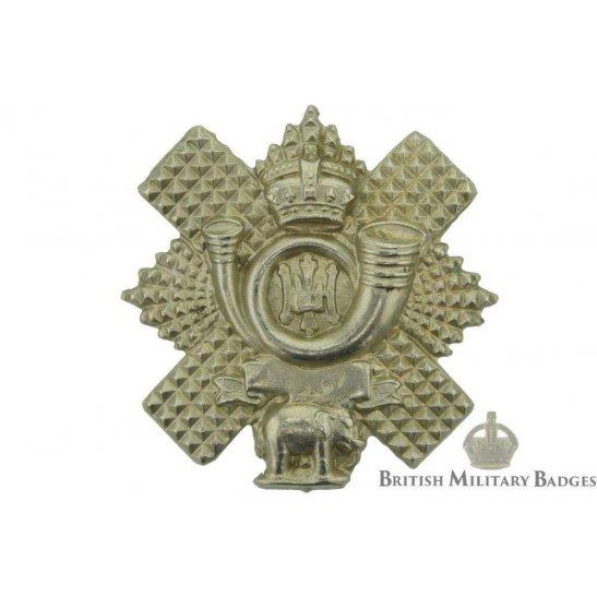 VICTORIAN Highland Light Infantry HLI Regiment Collar Badge
