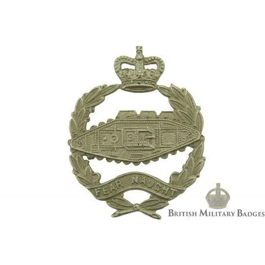 Royal Tank Regiment RTR Collar Badge - Queens Crown