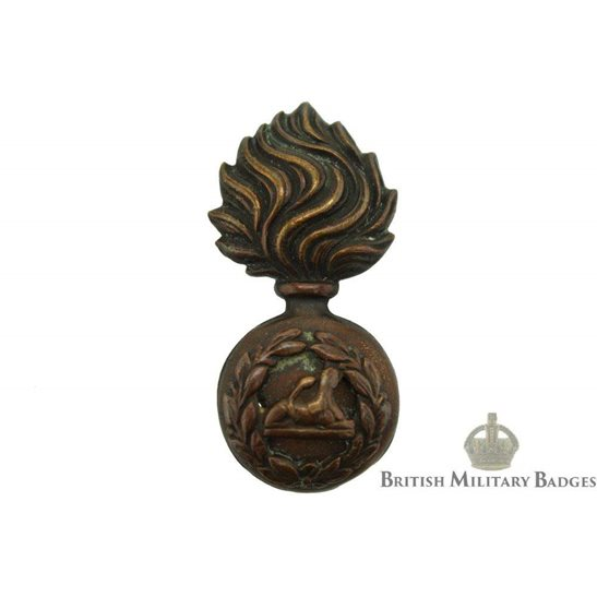 Lancashire Fusiliers Regiment TERRITORIAL OFFICERS Bronze Collar Badge