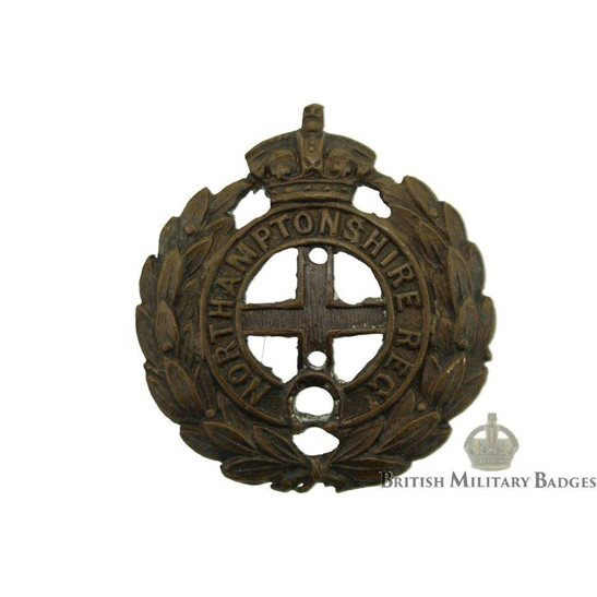 Northamptonshire Regiment OFFICERS Bronze Collar Badge