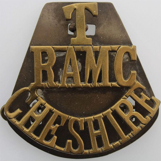 Royal Army Medical Corps RAMC Cheshire Territorial Brigade Royal Army Medical Corps RAMC Shoulder Title
