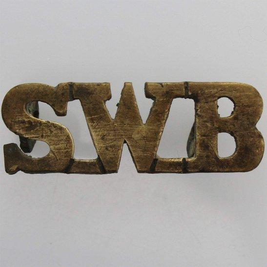 South Wales Borderers South Wales Borderers Regiment SWB Shoulder Title
