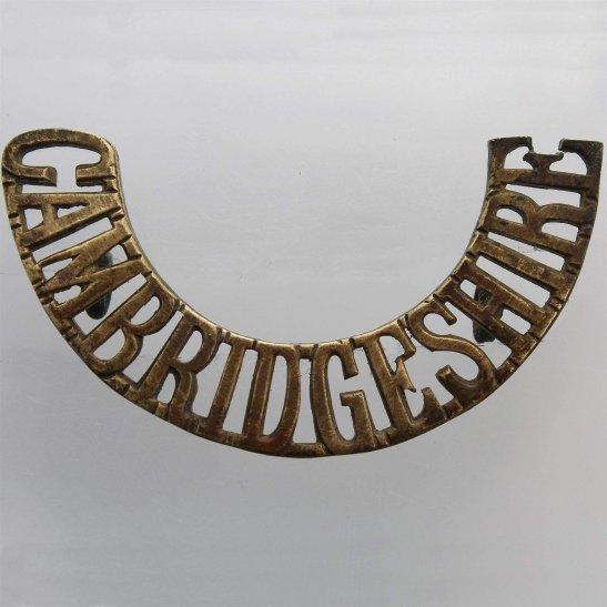 Cambridgeshire Regiment Cambridgeshire Regiment Cambridge Shoulder Title