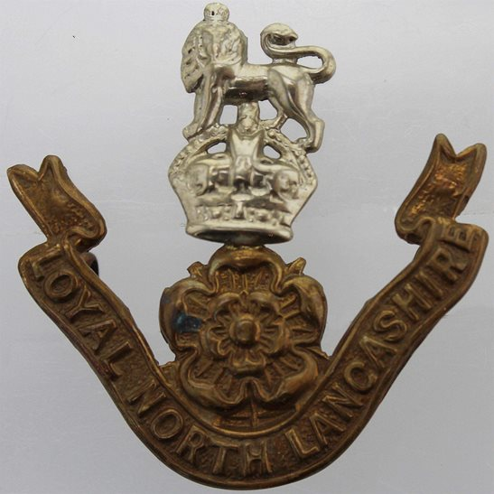 Loyal North Lancashire Loyal North Lancashire Regiment Cap Badge - EARLY LUGS VERSION