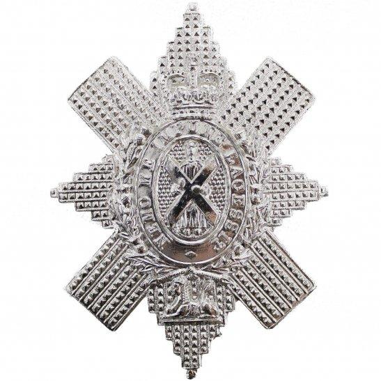 Black Watch Black Watch Royal Highland Regiment Scottish Staybrite Anodised Cap Badge - Staybright