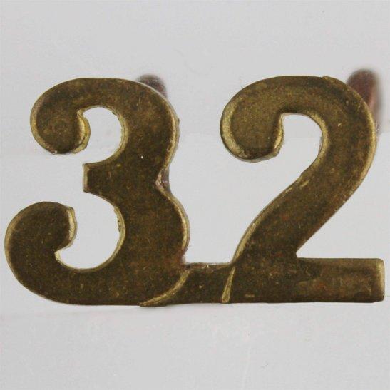 WW1 Canadian Army WW1 32nd (Manitoba & Saskatchewan) Battalion CEF Canadian Shoulder Title