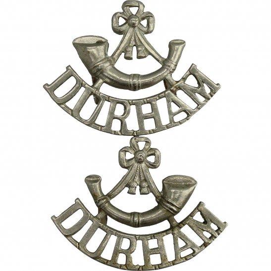 Durham Light Infantry DLI WW2 Durham Light Infantry Regiment DLI Shoulder Title PAIR