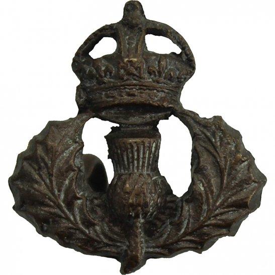 Cameron Highlanders Cameron Highlanders Regiment BRONZE Officers Scottish Collar Badge