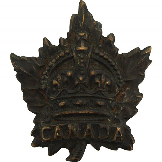 WW1 Canadian Army WW1 Canadian Army Division / Canada Corps CEF Collar Badge