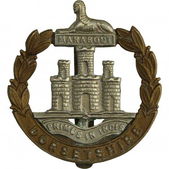 Dorset Regiment WW1 Dorsetshire (Dorset) Regiment Cap Badge - J.W. TIPTAFT & SON Makers Mark
