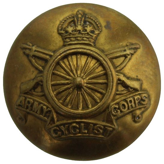 Army Cyclist Corps WW1 Army Cyclist Corps Cyclists Regiment Tunic Button - 19mm
