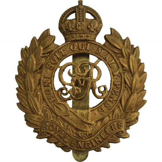 Royal Engineers WW1 Royal Engineers Corps (George V) Cap Badge