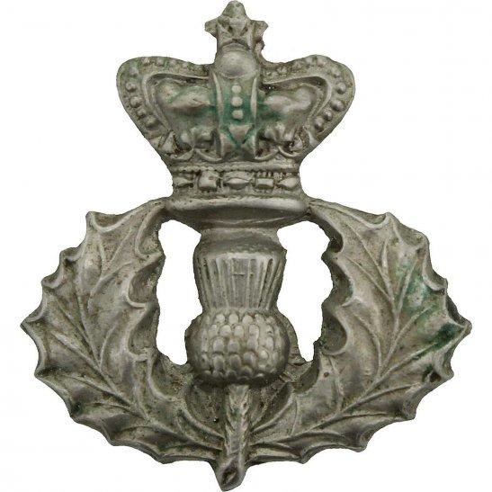 Cameron Highlanders VICTORIAN Queens Own Cameron Highlanders Regiment Queen's Scottish Collar Badge