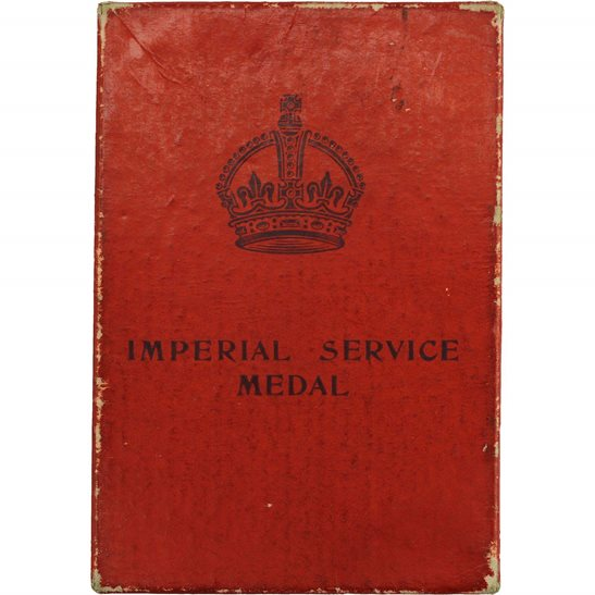 WW2 Spare Imperial Service Medal Issue Box - EMPTY