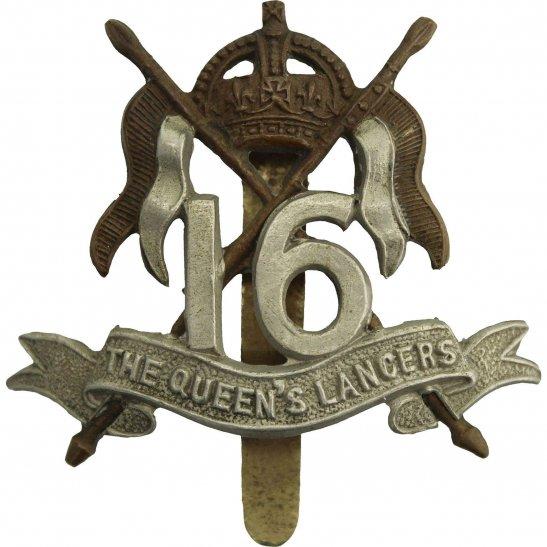 16th Lancers 16th (The Queens Lancers) Regiment Cap Badge