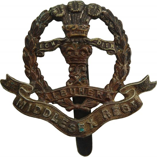 Middlesex Regiment WW2 Middlesex Regiment Cap Badge