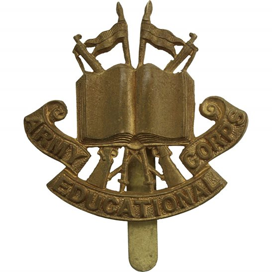 Royal Army Educational Corps RAEC WW1 Army Educational Corps AEC Cap Badge - FIRST PATTERN