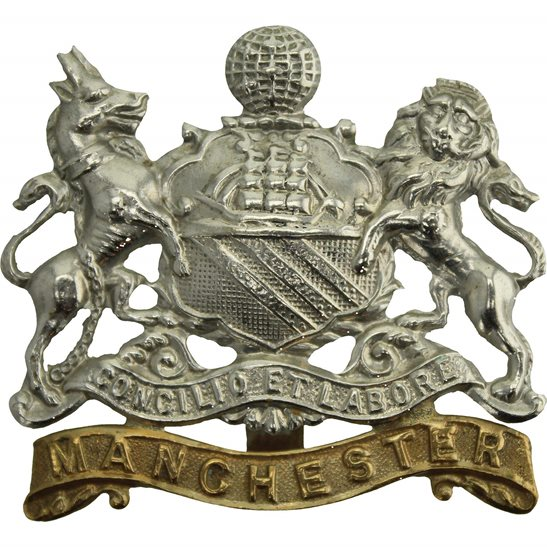 Manchester Regiment WW1 Manchester Regiment Cap Badge - FIRST PATTERN