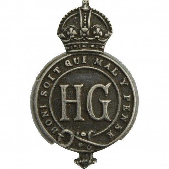 Home Guard WW2 Home Guard Servicemans HG WHITE METAL Lapel Badge
