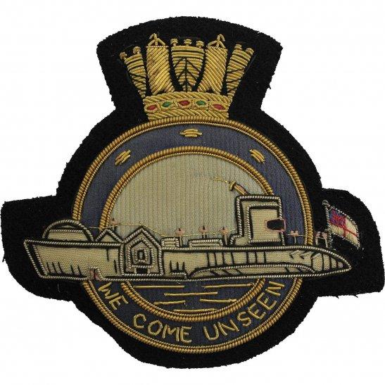 Royal Navy Royal Navy Submarine Naval Submariners Cloth Wire BULLION Veterans Blazer Badge