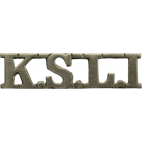Kings Shropshire Light Infantry KSLI WW2 Kings Shropshire Light Infantry KSLI Regiment King's Shoulder Title