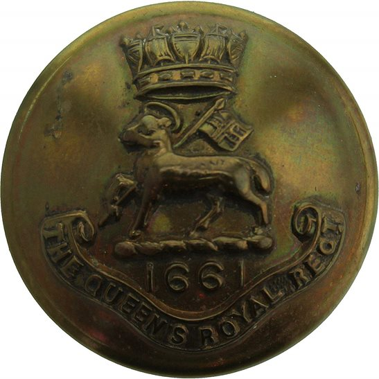 West Surrey Queens Own Royal West Surrey Regiment (Queen's) Tunic Button - 26mm