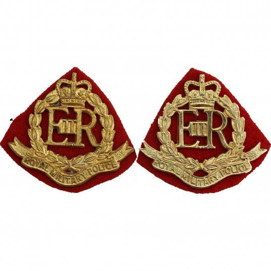Royal Military Police RMP Royal Military Police Corps RMP Collar Badge PAIR - Queens Crown