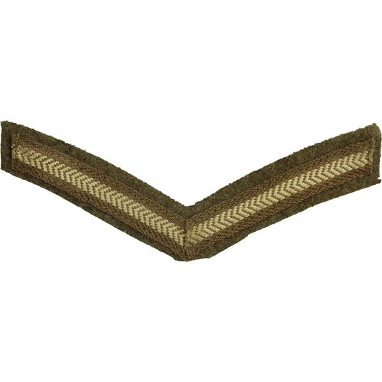 WW1 British Army Lance Corporals Cloth Chevron Insignia Rank Stripes