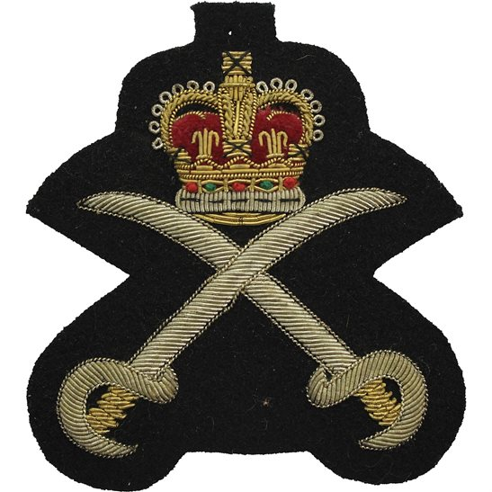 Royal Army Physical Training Corps RAPTC Royal Army Physical Training Corps RAPTC Cloth Wire BULLION Veterans Blazer Badge