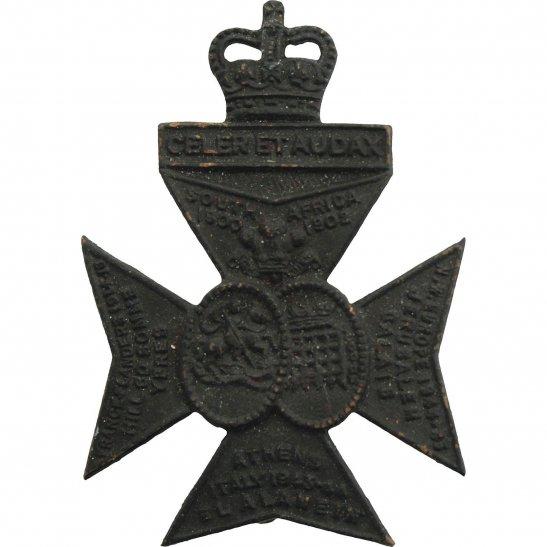 Kings Royal Rifle Corps KRRC Queens Royal Rifle Corps KRRC Regiment Cap Badge H.W. TIMINGS LTD - Queen's Crown