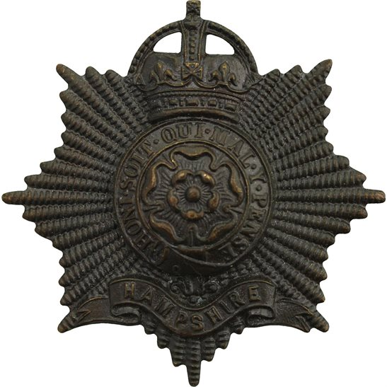Hampshire Regiment Hampshire Regiment OFFICERS Bronze Cap Badge