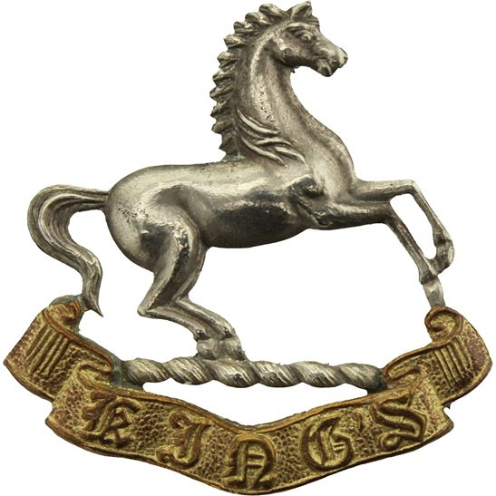 Kings Liverpool WW2 Kings Liverpool Regiment (King's) Collar Badge