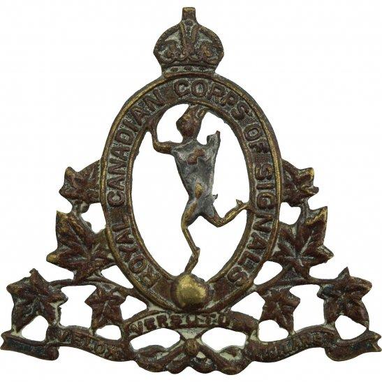 WW2 Canadian Army WW2 Royal Canadian Corps of Signals RCCOS Canada CEF Cap Badge