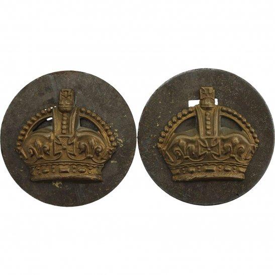 Royal Air Force RAF WW2 Royal Air Force RAF Flight Sergeants Insignia Rank Crowns Pair