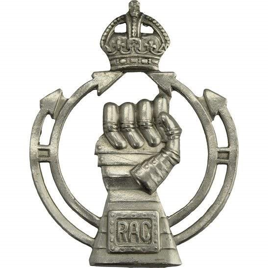 Royal Armoured Corps WW2 Royal Armoured Corps RAC Cap Badge