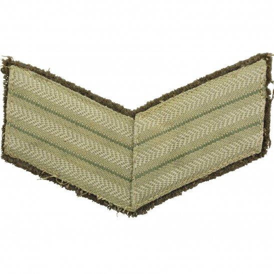 WW2 Canadian Army Sergeants Canada Cloth Chevron Insignia Rank Stripes