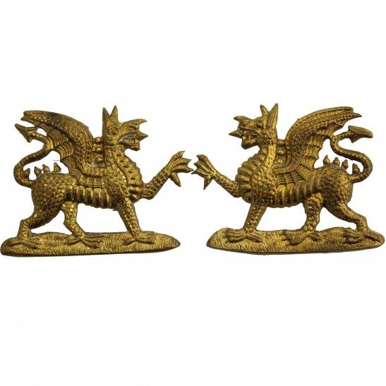 Buffs (Royal East Kent) Royal East Kent (The Buffs) Regiment OFFICERS Gilt Collar Badge