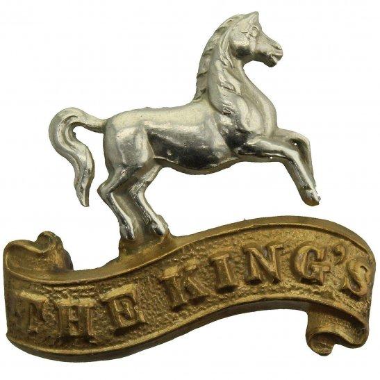 Kings Liverpool WW1 Kings Liverpool Regiment (King's) Collar Badge