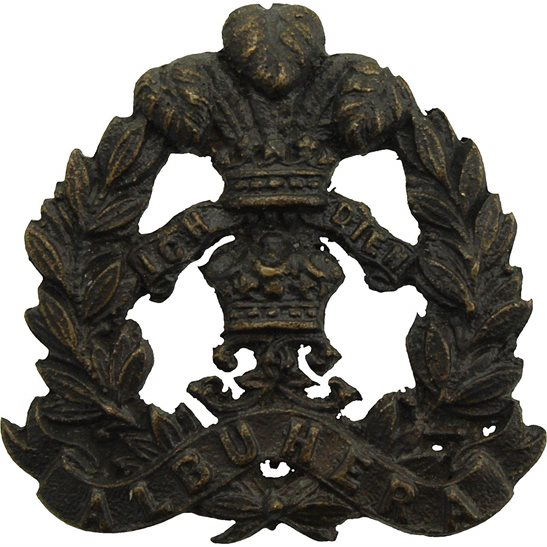 Middlesex Regiment Middlesex Regiment OFFICERS Bronze Officer's Collar Badge