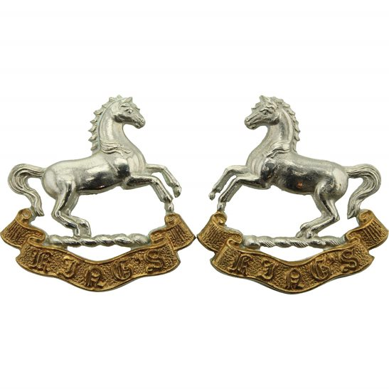 Kings Liverpool The Kings Liverpool Regiment (King's) Collar Badge PAIR